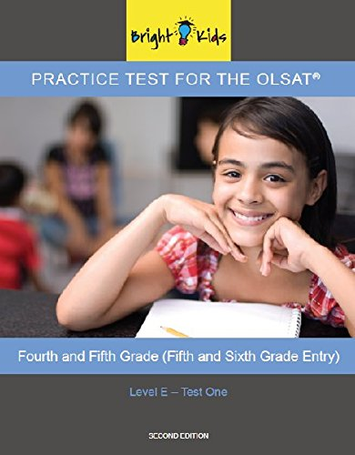 Bright Kids Practice Test One For The Olsat Level E Import It All