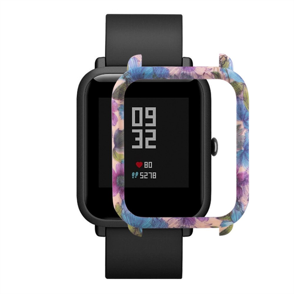 Chenway Colorful Case for Huami Amazfit Bip Younth Watch, PC Protect Shell Body Protective Slim Case Cover Accessories for Huami Amazfit Bip Younth Smart Watch Smart Watch (B)