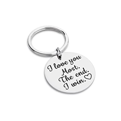 26d2b2c320bf Boyfriend Girlfriend Birthday Gift for Him Her Funny Couple Keychain for  Wife Husband Wedding Women Men