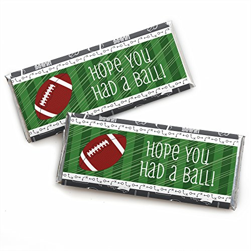 Feet Candy Bar (End Zone - Football - Candy Bar Wrappers Baby Shower or Birthday Party Favors - Set of 24)