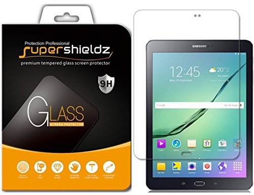 (2 Pack) Supershieldz for Samsung Galaxy Tab S2 8.0 Screen Protector (Tempered Glass) Anti Scratch, Bubble Free (S2 Samsung Screen)