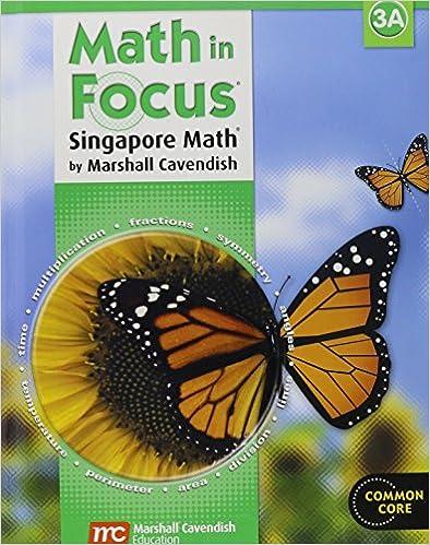 Math in Focus: Singapore Math: Student Edition, Book A Grade 3 ...