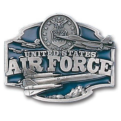 Air Force Enameled Belt Buckle