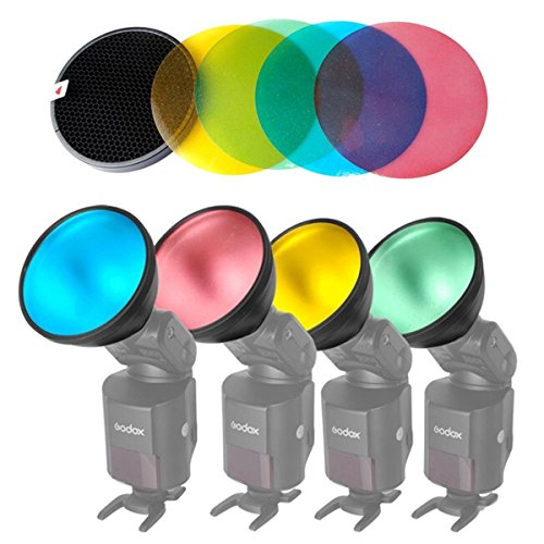 - Godox AD-S11 Color Gels + Reflector Grid Kit for Godox Witstro Flash AD200 AD180 AD360 AD360II