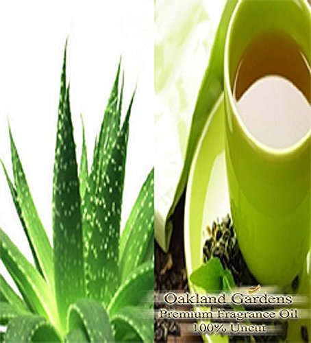 Aloe & Green Tea - Fragrance Oil - 100% Manufacturer Grade Fragrance Oil Oils - Cool soothing aloe vera with a zest of herbal green tea - Fragrance Oil By Oakland Gardens (240 mL - 8.0 fl oz Bottle) ()