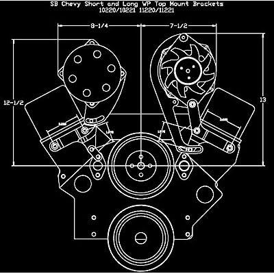 Billet Specialties 11221 Polished Sanden AC Compressor Bracket, Top Mount, SBC, Long Water Pump, Billet Specialties, Southwest Speed, SWS Auto Part # BSI-11221: Automotive