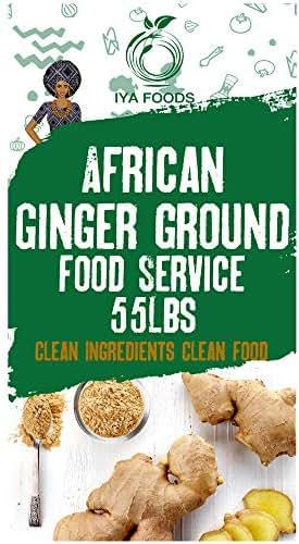 Iya Foods Ginger Ground 55 Pounds, Kosher Certified, No Preservatives, No Added Color, No Additives, No MSG