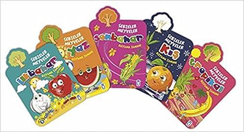 Boyama Zamani Sebzeler Meyveler Seti 5 Kitap Takim Kolektif