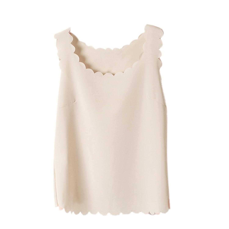Amazon.com: TOPTIE Women's Tank Tops Chiffon Vest Shirt Blouse ...