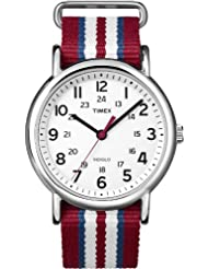 Timex Mens Weekender Central Park Slip Through Strap White T2N746GP