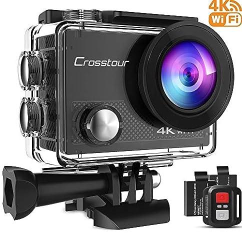 - 51ZXIHmmqQL - Crosstour Action Camera 4K 16MP WiFi Underwater 30M with Remote Control IP68 Waterproof Case
