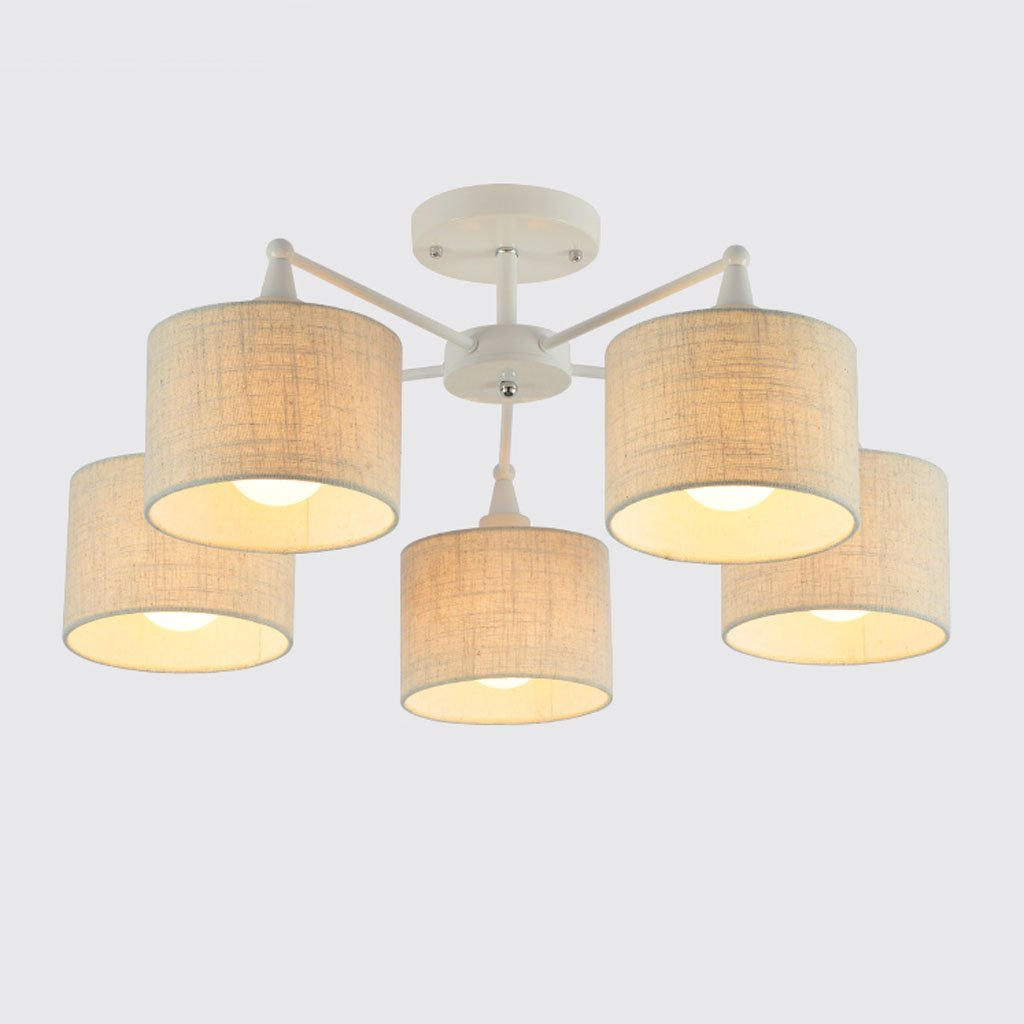 Ceiling lights yxgh modern simple study living room bedroom atmosphere restaurant circular household lighting fixtures nordic lamp linen color lampshade