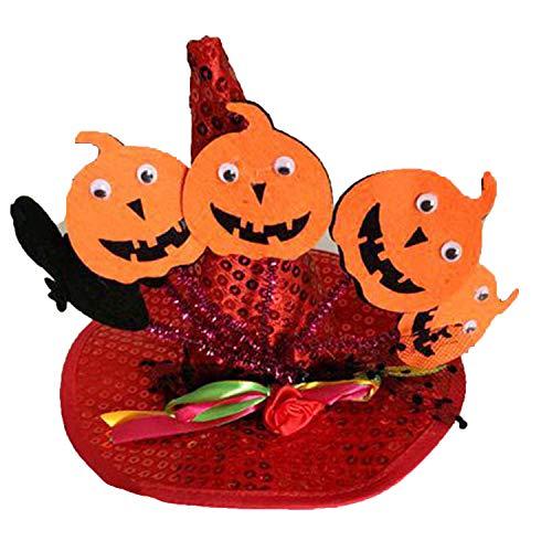 Funny Cute Pet Costume Cosplay Spider Pumpkin Witch Cap Hat for Cat Kitten Halloween Xmas Fancy Dress,Rub 1,M -