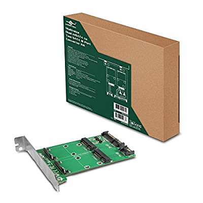 Vantec Multi-Size Dual mSATA to Two SATA III Port Converter Kit UGT-MST210 from Vantec USA