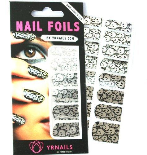 YRNails Halloween Skulls Nail Foil Wraps ()