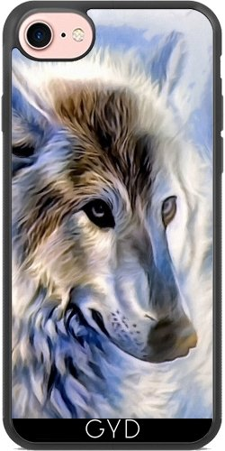 Coque Silicone pour Iphone 7 / Iphone 8 - Icewolf Loup Imaginaire by WonderfulDreamPicture