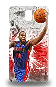 Tpu 3D PC Case Cover Compatible For Galaxy Note 3 Hot 3D PC Case NBA Detroit Pistons Greg Monroe #10 ( Custom Picture iPhone 6, iPhone 6 PLUS, iPhone 5, iPhone 5S, iPhone 5C, iPhone 4, iPhone 4S,Galaxy S6,Galaxy S5,Galaxy S4,Galaxy S3,Note 3,iPad Mini-Mini 2,iPad Air )