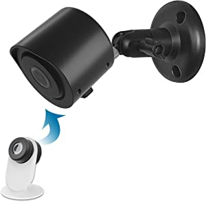 Wall Mount for YI Home Camera 3, Indoor Outdoor Mount and Case for Yi Home Camera 3 1080p(Black, 2 Pack)