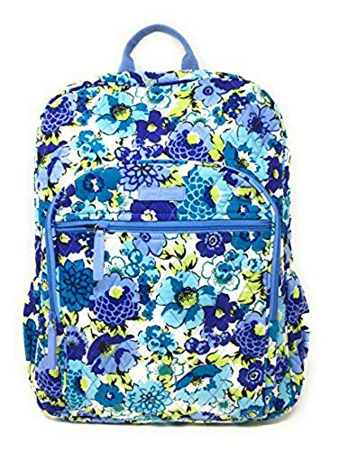 Vera Bradley Campus Backpack with Solid Color Interior (Updated Version) (Blueberry Blooms with Blue Interior)