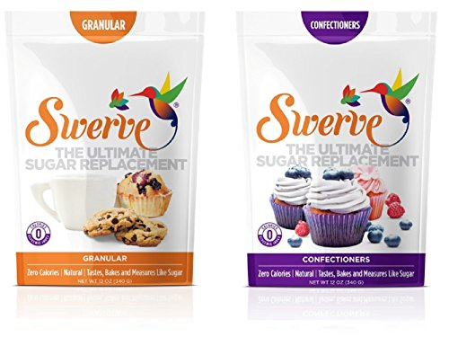 Swerve Sweetener, Bakers Bundle, 12Oz Granular and Confectioners pack of 2 Sugar Sweetener