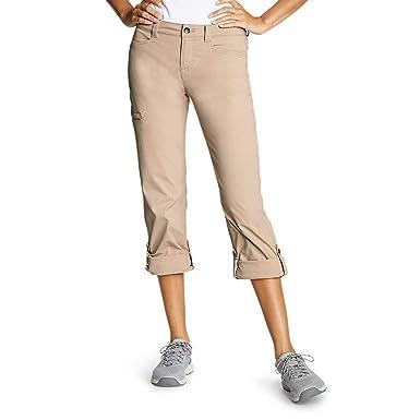 38dc1d041 Amazon.com: Eddie Bauer Women's Horizon Roll-Up Pants: Clothing