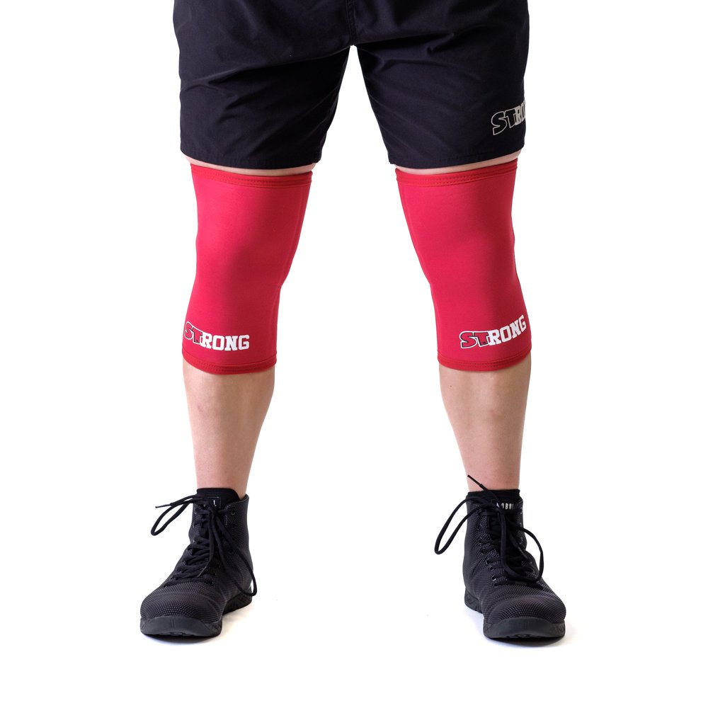 Sling Shot Mark Bell Strong Knee Sleeves, Red, XS