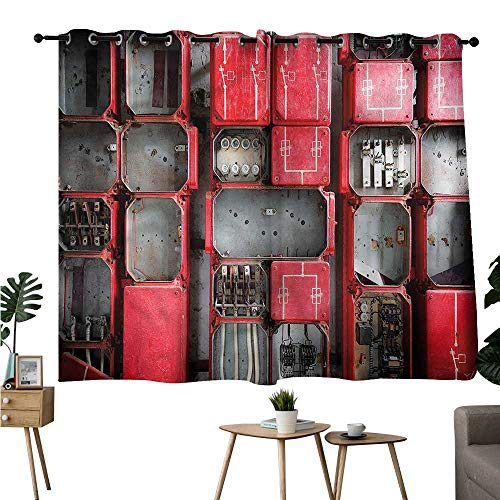 Diycon Exquisite Curtain Industrial Fuse Cabinet Breathability W55 xL72 Suitable for Bedroom Living Room Study,etc (Avalon China Cabinet)