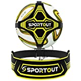 Sportout Hands Free Solo Soccer Trainer, Kick Trainer, Soccer Training Aid Widened Side Waist Protection, Two-Way Adjustment of Belt Length, Fit for Balls Size 3 4 5, Kids and Adults