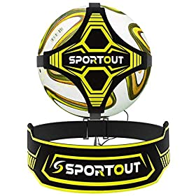 Sportout Soccer Kick Training Aid – Perfect for Soccer Skills Improvement, Fit for Balls Size 3 4 5