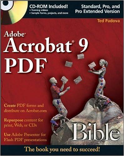 adobe acrobat 9 pdf bible 9780470379196 computer science books