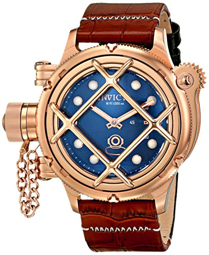 Invicta-Mens-16348-Russian-Diver-Analog-Display-Mechanical-Hand-Wind-Brown-Watch