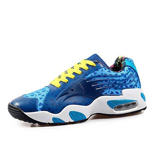 Fordbox Comfortable Leather Waterproof Men's Basketball Shoe Sneaker Blue 8.5 D(M) US