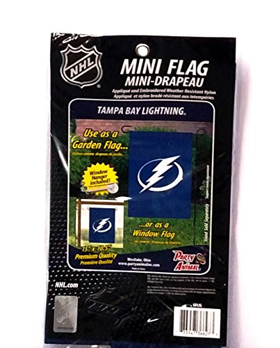 Party Animal Tampa Bay Lightning Garden Window Flag Banner Embroidered Applique Hockey