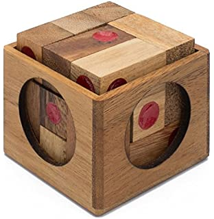 Vegas Baby: Wooden Puzzle for Adults a Handmade 3D Brain Teaser Soma Cube from SiamMandalay