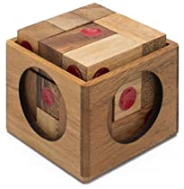 Vegas Baby: Wooden Puzzle for Adults a Handmade 3D Brain Teaser Soma Cube from SiamMandalay with Free SM Gift Box(Pictured)