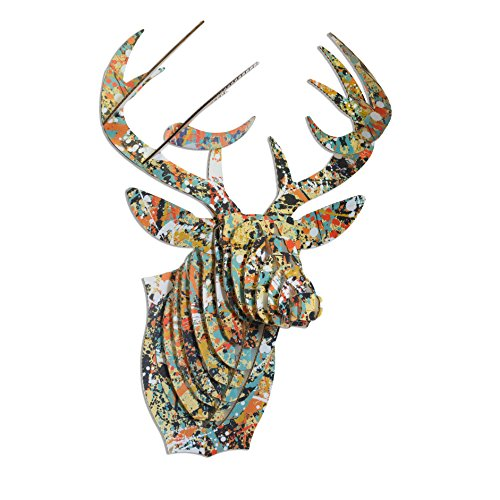 Cardboard Safari Recycled Cardboard Animal Taxidermy Deer Trophy Head, Drip Bucky Small