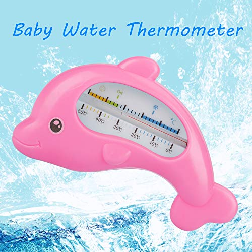 Baby Bath Thermometer, Non-toxic Heat-resistant Cute Animal Infants Bathing Water Thermometer Perfect for Baby Safety Bath Care(Pink)