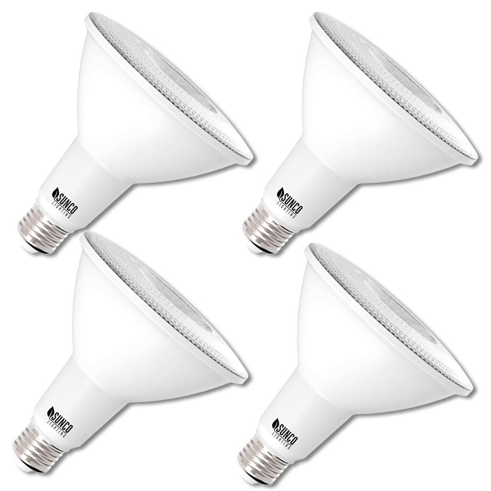 UL /& Energy Star Listed H/&PC-56309 1050 LM 5000K Daylight Highlight Accent Sunco Lighting 6 Pack PAR38 LED Bulb 13W=100W Dimmable Flood Light Indoor//Outdoor