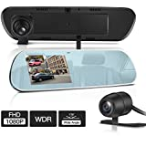 Tryace T9p Dual Dash Cam Fhd 1080p Rearview Mirror Backup Camera 4 Ips Screen With G sensor Wdr Loop Recording Super Nights Vison Rear View Reverse Front And Rear Car Dash Camera T9p
