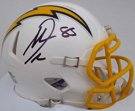 Antonio Gates Autographed San Diego Chargers TB Mini Helmet Beckett Auth Silver