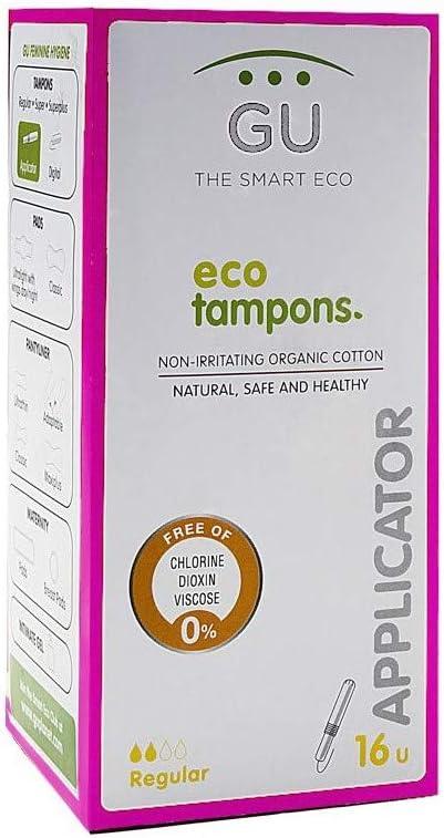 Tampones con aplicador biodegradable - 100% Algodón ecológico - No ...