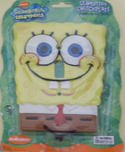 SpongeBob Squarepants Seaworthy Switchplate (Large) - Dark Switchplates
