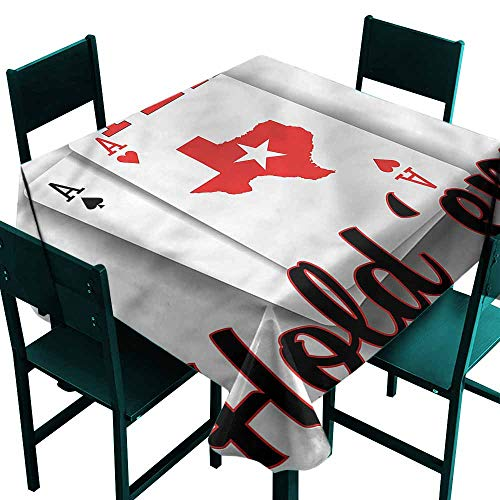 DONEECKL Oil-Proof and Leak-Proof Tablecloth Poker Tournament Texas Holdem Indoor Outdoor Camping Picnic W54 xL54