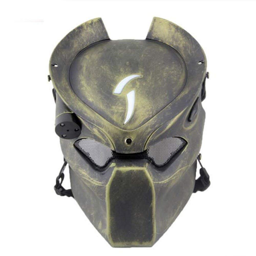 ATAIRSOFT Tactical Protective Airsoft Metal mesh Alien Full Face Mask with Lamp Bronze by ATAIRSOFT