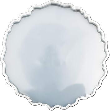 Epoxidharz Silikonform GEODE IRREGULAR COASTER Typ 18 Gießform Epoxy Resin Mold