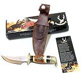 Cheap Lastworld 8″ Eagle Head Skinner Knife Bone Handle Hunting Knife