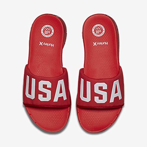 Hurley Mens Fantom Gratis (usa) Slide Sandal Gym Röd