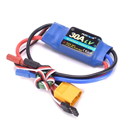 YoungRC 30A ESC RC Brushless Motor Electric Speed Controller 3A UBEC with  XT60 & 3 5mm bullet plugs