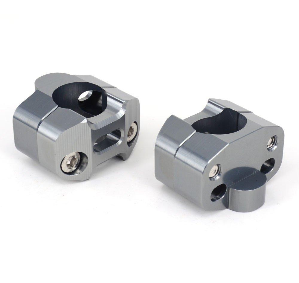 Paire Moto 1 1//8 CNC guidon guidon Riser Mount adaptateur de serrage 7//8 /échange 1 1//8 titane