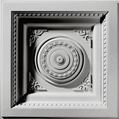 Ekena Millwork CT24X24RO  24-Inch W x 24-Inch H x 2 7/8-Inch P Royal Ceiling Tile